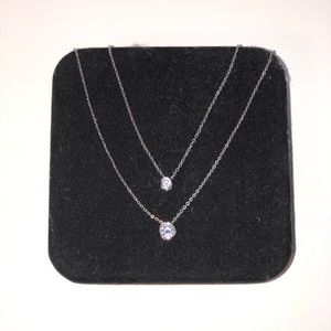 layered sterling silver necklace